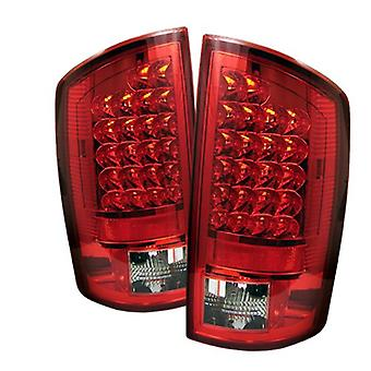 Spyder Dodge Ram 1500 07-08 / Ram 2500 06-09 / Ram 3500 06-09 LED Tail Lights - Red Clear