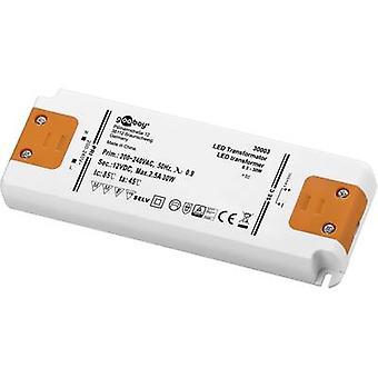 Goobay SET 12-30 LED slim LED transformer Constant voltage 30 W 2.5 A 12 Vdc Approved for use on furniture