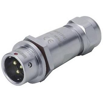 Weipu SF1211/P5 II Bullet connector Plug, straight Series (connectors): SF12 Total number of pins: 5 1 pc(s)