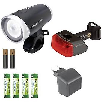 Sigma Bike light set Lightster, Cuberider ll LED rechargeable, battery-powered Black/silver