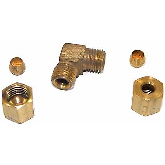 Big A Service Line 3-165300 Brass Pipe, 90° Street Elbow Fitting 3/16