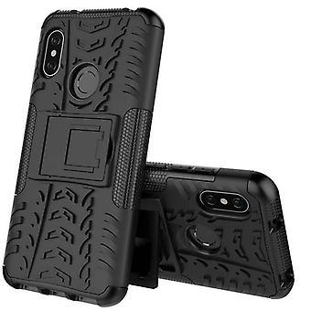 Für Xiaomi MI A2 Lite / Redmi 6 Pro Hybrid Case 2teilig Outdoor Schwarz Tasche Hülle Cover Schutz