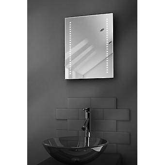 Diamond Battery LED Bathroom Mirror With Pull Cord k1