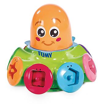 Tomy 72423 kinderen sorteren & Pop Top Octopus spinnen