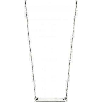 Beginnings ID Bar Necklace - Silver