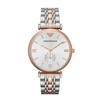 Emporio Armani Mens' Watch - AR1677 - Zilver/Rose Gold