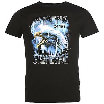 Official Mens Of The Stone Age T Shirt Crew Neck Tee Top Short Sleeve Round