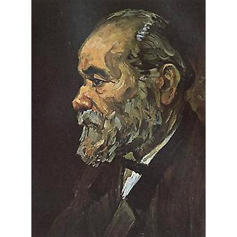 ひげ、ヴァン ・ ゴッホ、44.5 × 33.5 cm の老人の肖像画