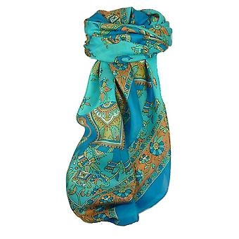 Classic Paisley Square Scarf Mulberry Silk Kakaul Forget Me Not by Pashmina & Silk
