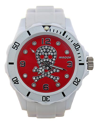 Waooh - toont schedel Strass 39 White Dial color