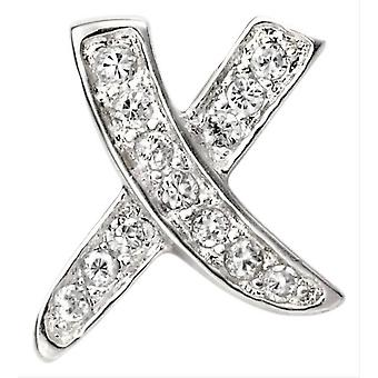 Begin Cubic Zirconia Kiss hanger - zilver