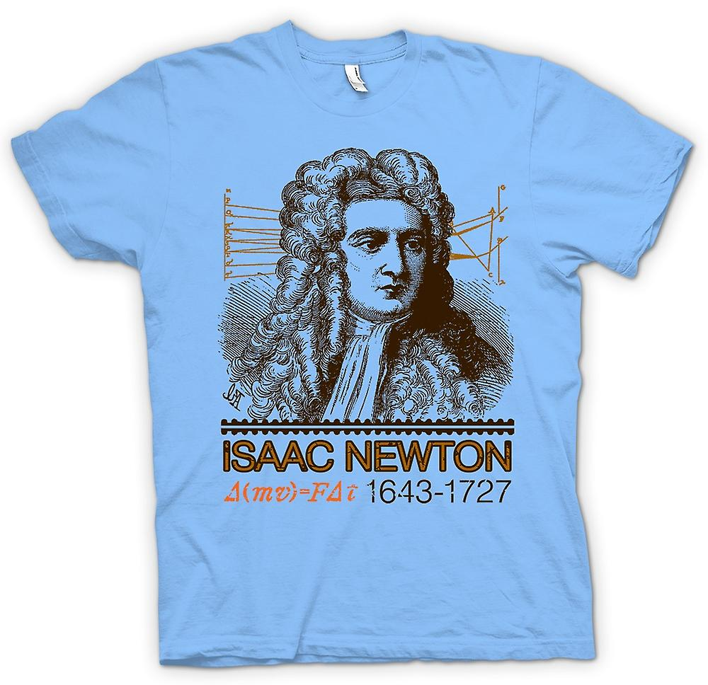 Hommes T-shirt - Isaac Newton scientifique 1643 - 1727 - Icon