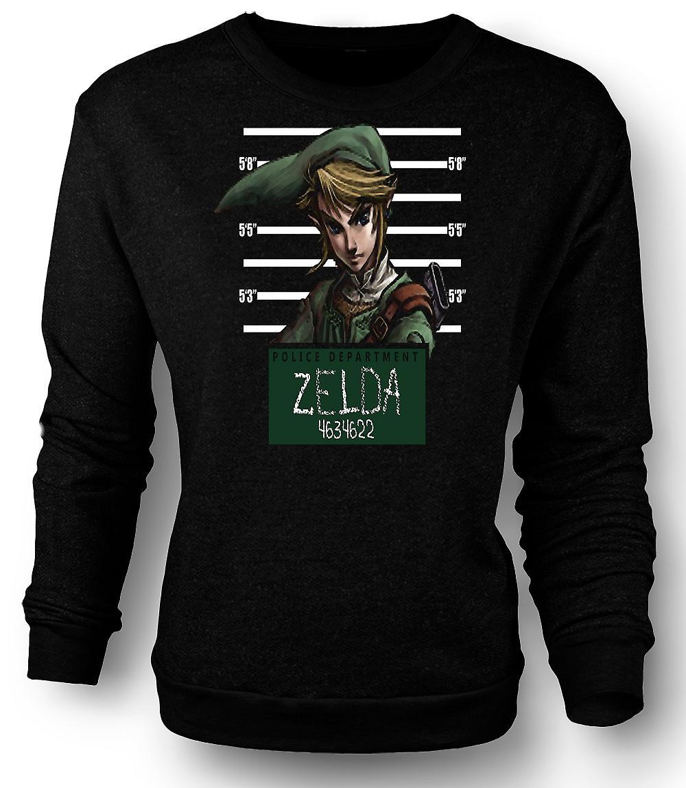 Sudadera para hombre Zelda - Mug Shot - gracioso