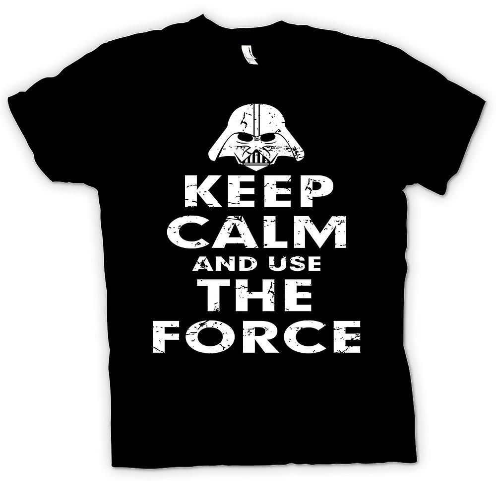 Kids T-shirt - Keep Calm And Use The Force - Star Wars Inspired