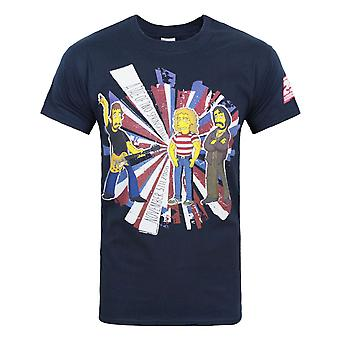 Simpsons The Who Men's T-Shirt Blue