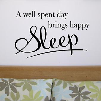 Sleep wall art sticker