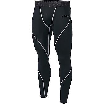 Tesla MUP19 Cool Dry Baselayer Compression Pants - Black/Steel