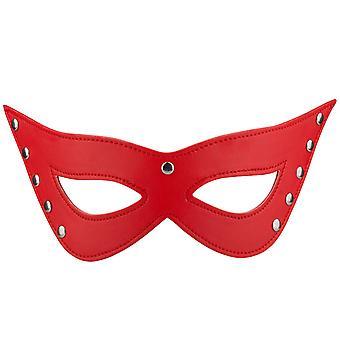 TRIXES rote Kunstleder Katze Augen Maske Sexy Kostüm Masquerade