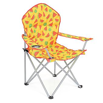 Folding Camping Chair Lightweight Padded Beach Festival Seat Watermelon Print