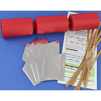 12 Red Make & Fill Your Own Cracker Kits | DIY Christmas Cracker Crafts
