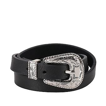 B-low The Belt Black Leather Belt