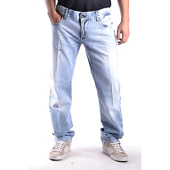 Dolce E Gabbana Blue Cotton Jeans