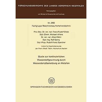 Studie zur kontinuierlichen Wasserstoffgewinnung durch Wasserdampfzersetzung an Metallen by Block & FranzRudolf