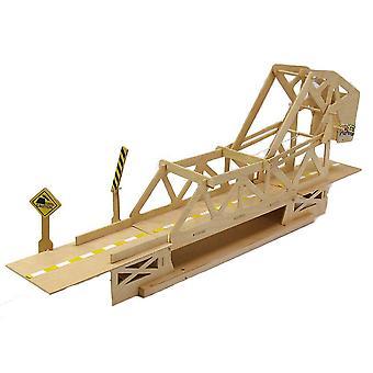 Pfadfinder Strauss Schwenkzapfen Klappbrücke aus Holz Bausatz