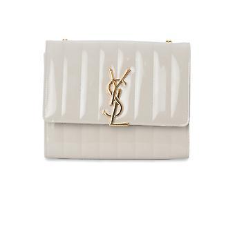 Saint Laurent Vicky White Leather Shoulder Bag