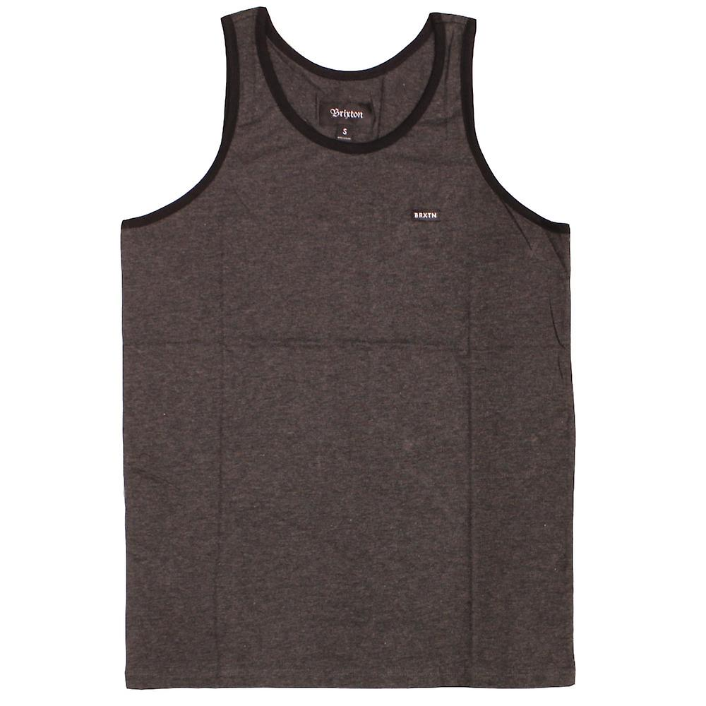 Brixton Sherman II Tank Top Charcoal Black