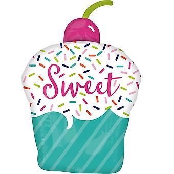 Anagram Sweet Cupcake Supershape Foil Balloon