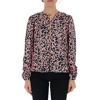 Laneus Black/pink Silk Shirt
