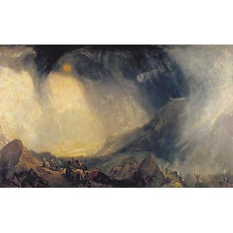 Snow Storm,Hannibal and his Amy Crossing,J. M. W. Turner,60x37cm