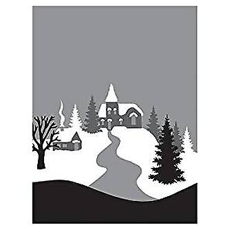 Spellbinders Winter Village 3D Cling Stamp Set (DSC-018)
