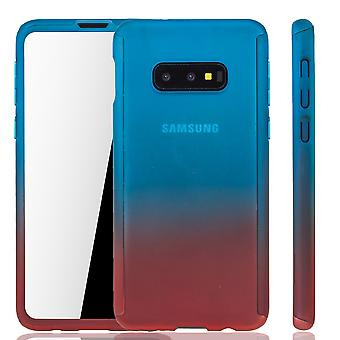 Samsung Galaxy S10e Phone Case Protection Case Full Cover Tank Protection Foil Blue/ Red