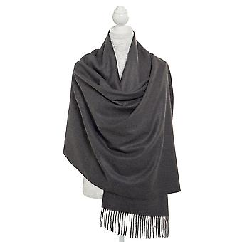 Eternal Collection Pashmina Charcoal Grey Oblong Soft Polyester Scarf