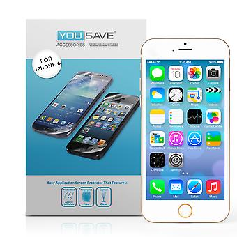 YouSave Accessories iPhone 6 and 6s Screen Protectors x5