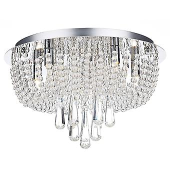 Saigon 5 Light Flush Polished Chrome/clair