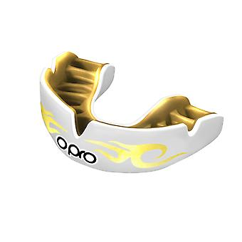 Opro potere adattarsi Bling urbano bocca guardia bianco/oro