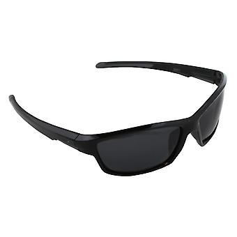 Sonnenbrille UV 400 Sport Rechteck Polarisieren Glas grau schwarz S371_4 FREE BrillenkokerS371_4
