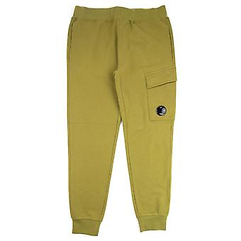 CP Company Diagonal Raised Fleece Lens Sweat Pant Moss Green 639