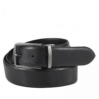 Tongue Belt R - Armani Emporio - Cuir Noir