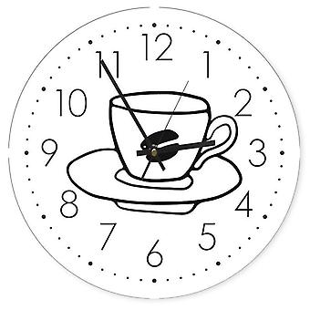 Decorative Clock With Picture, Coffee