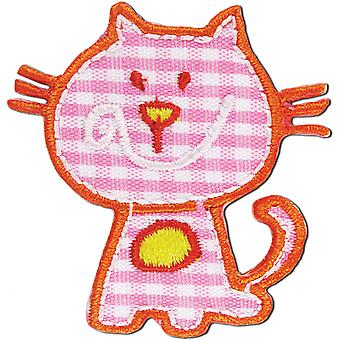 Iron On Appliques Pink Cat A001300 263