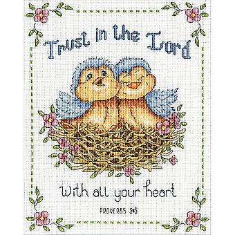 Trust In The Lord Counted Cross Stitch Kit-8