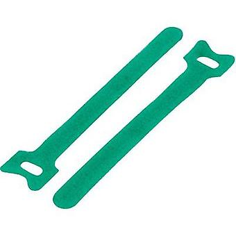 Hook-and-loop cable tie for bundling Hook and loop pad (L x W) 240 mm x 16 mm Green KSS MGT-240GN 1 pc(s)