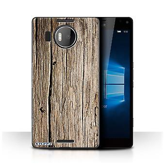 STUFF4 Case/Cover for Microsoft Lumia 950 XL/Driftwood/Wood Grain Pattern
