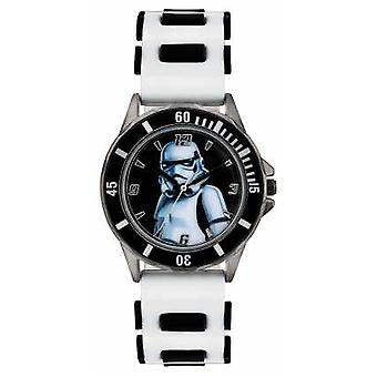 Star Wars Childrens Star Wars Storm Trooper White Strap STM3518 Watch
