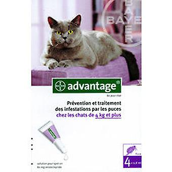 Ecuphar Pipetas Advantage 80 4 Kg (Gatos , Antiparasitarios , Pipetas)