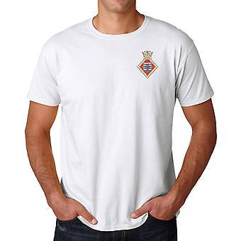 HMS Scotia brodert Logo - offisielle Royal Navy ringspunnet T skjorte